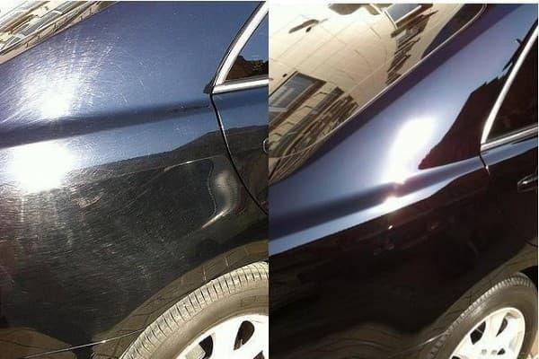 фото полировка авто до и после