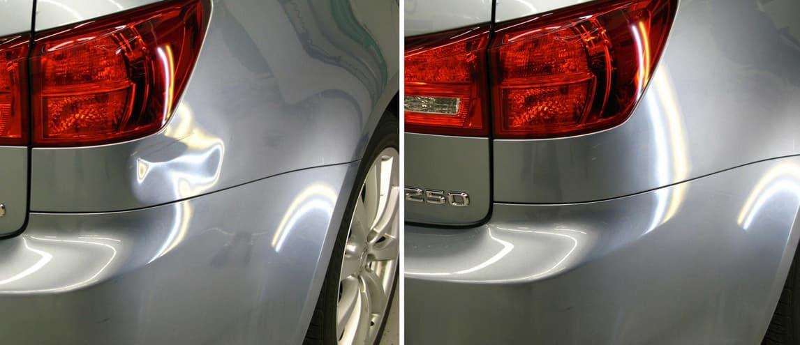Фото ремонта вмятин автомобиля