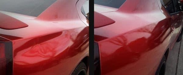 фото ремонт вмятин до и после